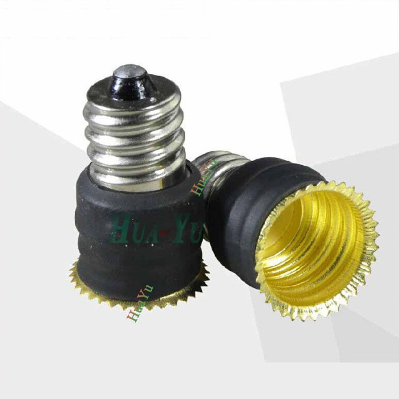E12 to E14 lamp base Light Lamp Bulbs Adapter Converter E12 to E14 Lamp Adapter lamp holder Free Shipping(China (Mainland))