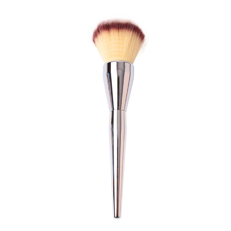 Silver Metal Professional Makeup Brushes Ulta it all over powder brush 211 make up brushes Blush Powder Brush(China (Mainland))