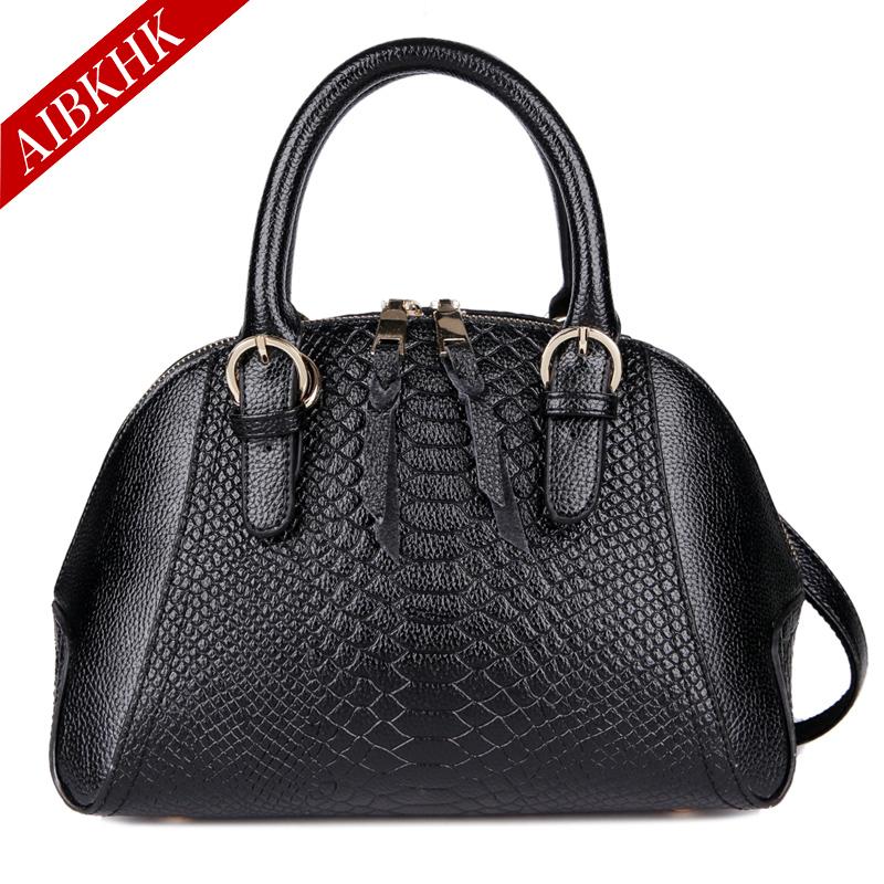 100% Genuine Leather Bag Female Handbag Fashion Brand LOGO Shell Bag Crocodile Women Shoulder Bag Summer Crossbody Bag For Women(China (Mainland))