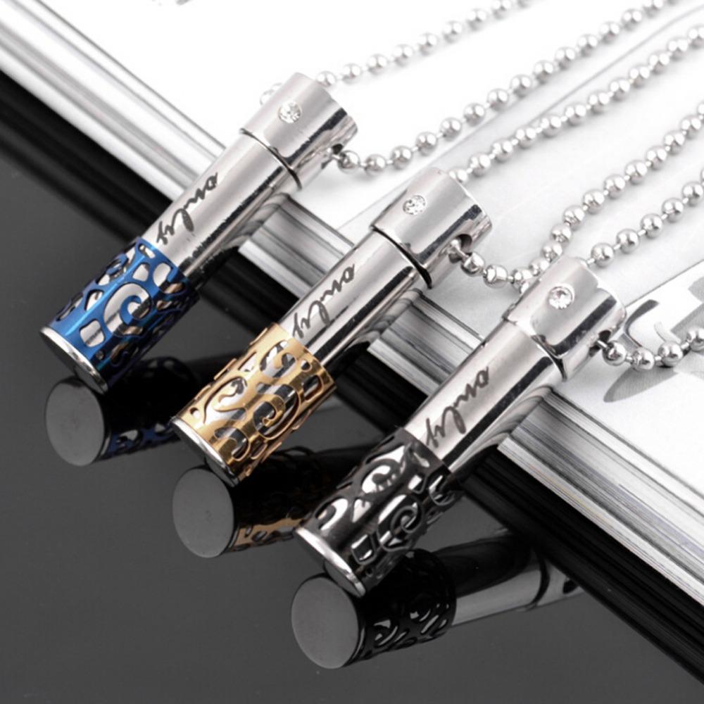 1 Piece Hollow-out Perfume Bottle Titanium Steel Pendant Couple Necklace Women/ Men Jewelry 2 Colors Drop Shipping NL0053(China (Mainland))