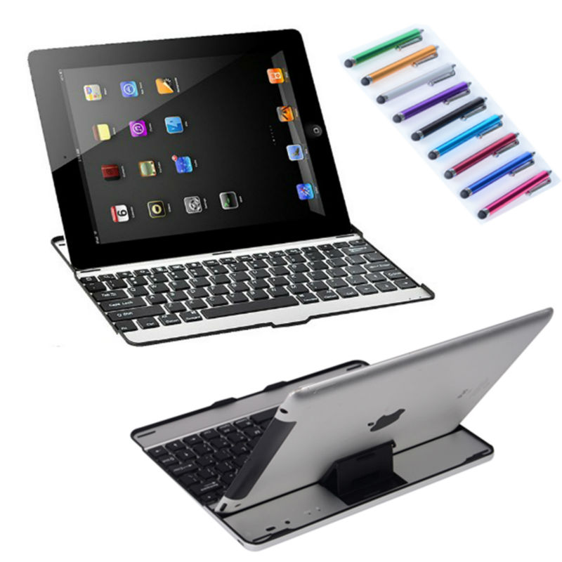 black portable wireless bluetooth keyboard for tablet laptop mobile phones with display stand. Black Bedroom Furniture Sets. Home Design Ideas