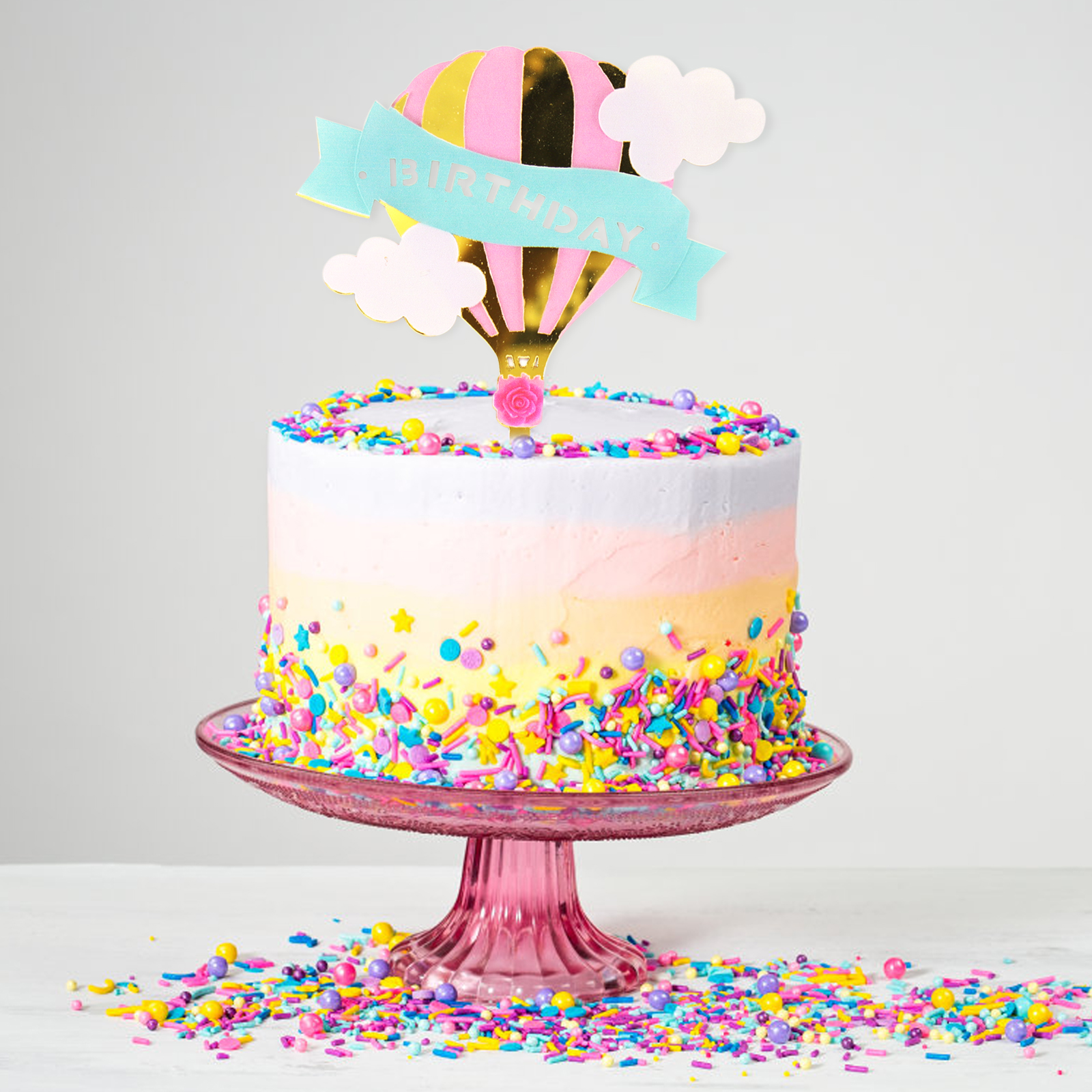 1pc Happy Birthday Cake Topper Material Acrylic Size As The Picture Party Baby Shower Decorations