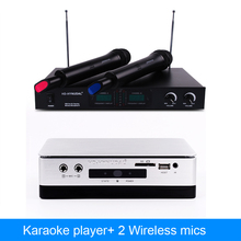 2015 New Professional Home KTV Player Chinese Karaoke System Machine  2TB 42K Song With Two Mics(China (Mainland))