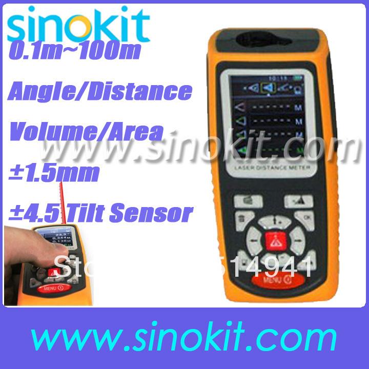 Laser Distance 100 Meter USB Area Volume Range Finder Pythagorean Theorem +/-1.5mm Accuracy 100m/328ft Range SK100D<br><br>Aliexpress