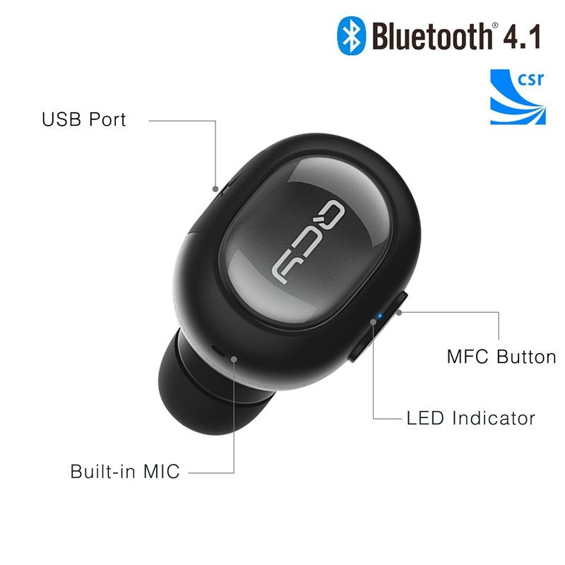 QCY Q26 Mini Bluetooth Headset Waterproof IPX2 Bluetooth Earphone Earbud Sport  Music Stereo Earphone for Xiaomi iOS Android E02