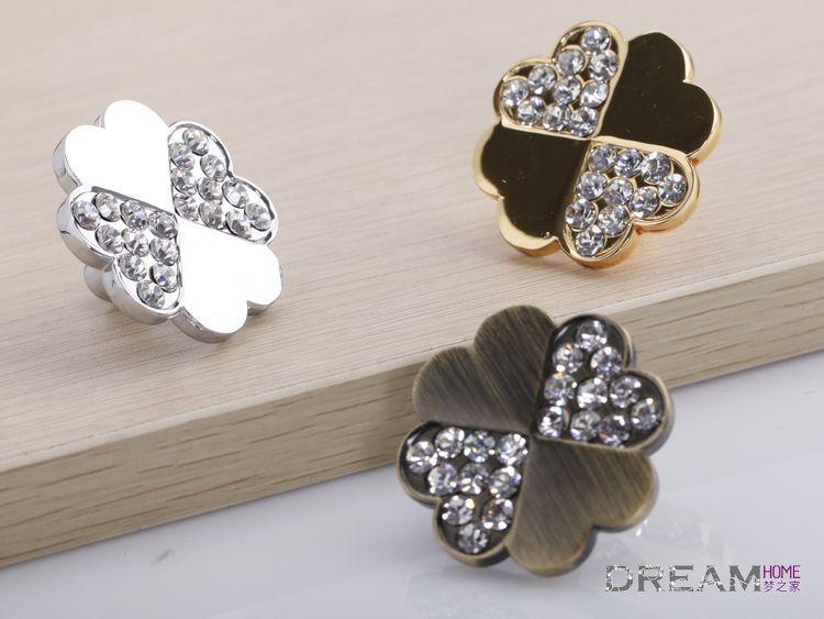 Chrome Silver crystal pull knob / cabinet door knob /K9 Clear Crystal Glass door knob / furniture pull / door pull(China (Mainland))