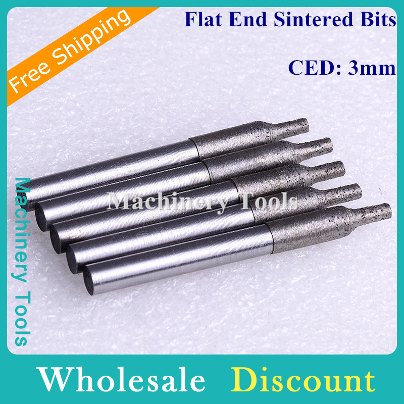 5pc 6mm 3mm Flat-Bottomed Sintered Stone Carving Bits, Engraving Cutters, Granite Router Tools Mills Lettering, Grinding - Machinery store