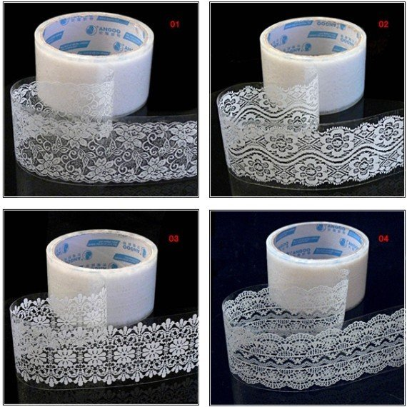 Freeshipping!Wholesale,New Transparent Lace tape (large)sticker Decorative Tape/DIY stationery /Office Adhesive Tape<br><br>Aliexpress