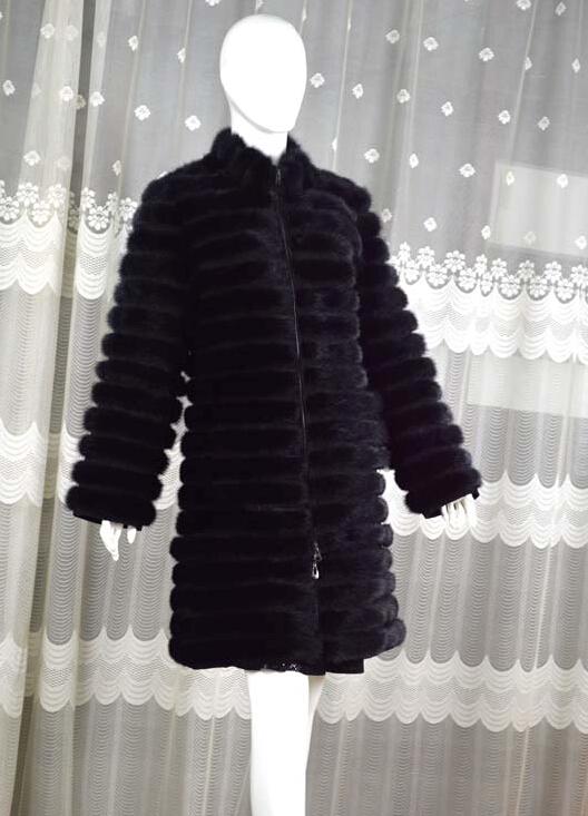 New Arrival Winter Ladies Genuine Full Pelt  Mink Fur Coat Cross Grain Women Fur Outerwear Coats Removable Plus Size BF-C0379Одежда и ак�е��уары<br><br><br>Aliexpress