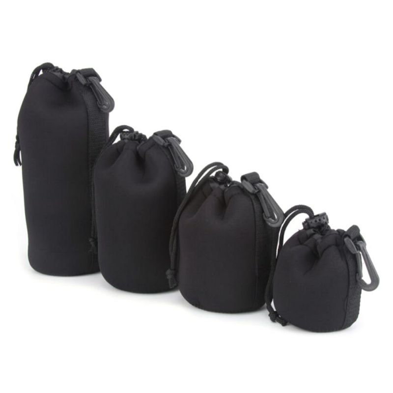 Camera Neoprene DSLR Lens Soft Pouch Protector Case Bag For Canon Nikon Sony Free Shipping