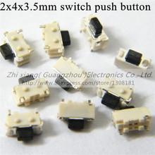 20 шт./лот 2 * 4 * 3.5 мм SMD микро-переключатель MP3 MP4 MP5 сотовый телефон планшет питания для ПК сенсорный выключатель 2 x 4 x 3.5 мм выключатель кнопка