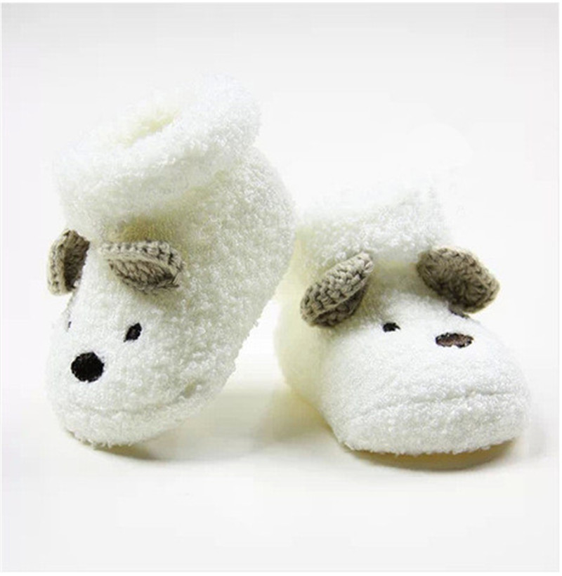 2015 New Cute Cartoon Baby Socks Bear Manual Slipper Shoes Newborn to 6 Month Autumn Winter