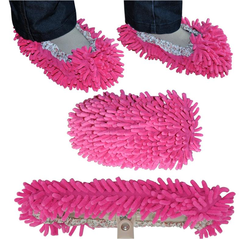 Cute Slipper Lazy Shoes Cover Dust House Bathroom Floor Cleaning Mop Cleaner 1Pair free shipping ZH129(China (Mainland))