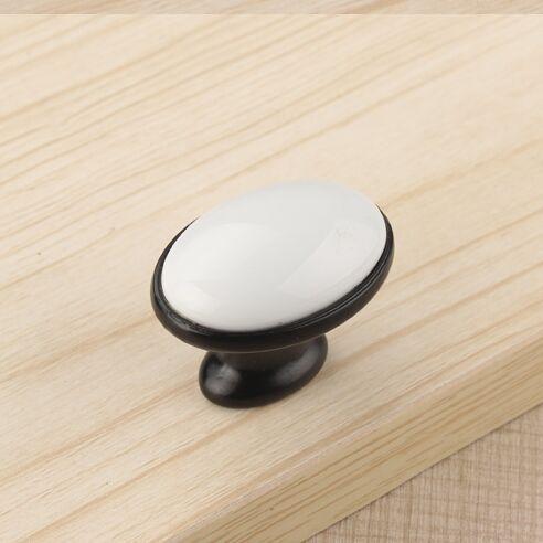 Kitchen Cabinet Handles Knobs Black Drawer Knobs Pulls White Ceramic