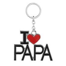 Брелок для ключей I Love Mom/Dad/Mama/Papa кулон из букв брелки для папы/мамы на День Матери брелок для ключей ювелирный брелок подарок(China)