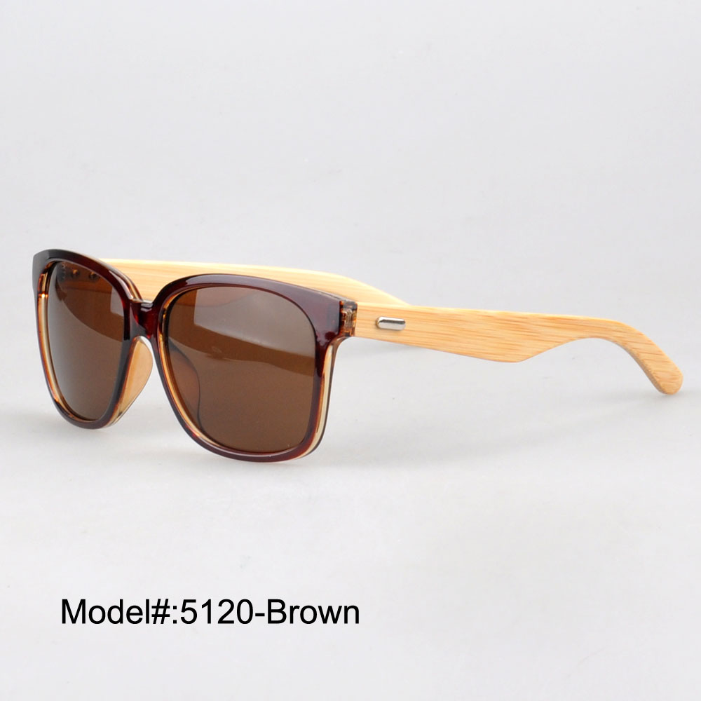 5120 famous design vintage style fashion plastic sunglasses with bamboo temple sunshade UVB UV400(China (Mainland))