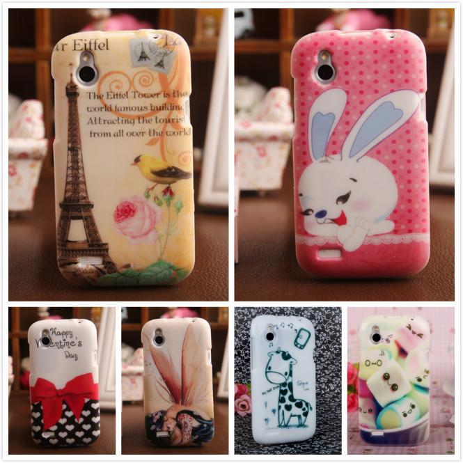 1 Piece Accessory TPU Silicone Cover Skin Protector Painting Design Case For HTC DESIRE X T328W(China (Mainland))