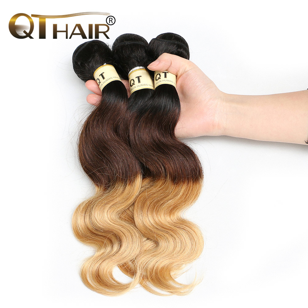 Queen Weave Beauty Ombre Brazilian Hair Body Wave 100% Ombre Hair Extensions 3Pcs/Lot Brazilian Virgin Hair Ombre Free Shipping<br><br>Aliexpress