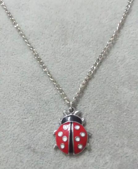 """Moda Plata Antigua """"Esmalte Escarabajo"""" Encantos Collar de la Declaración Gargantilla Collar de La Joyería de DIY 10 unids B575(China (Mainland))"""