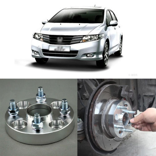 4pcs New Billet 4 Lug 12*1.5 Studs Wheel Spacers Adapters For Honda City 2008-2013<br><br>Aliexpress