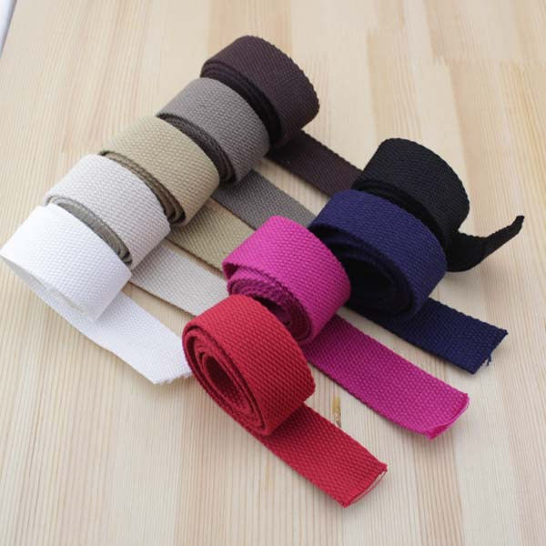 10m/lot 32mm Canvas Ribbon Belt Cotton webbing/lable ribbon for Diy bag Handle single shoulder band accessories,craft projects(China (Mainland))