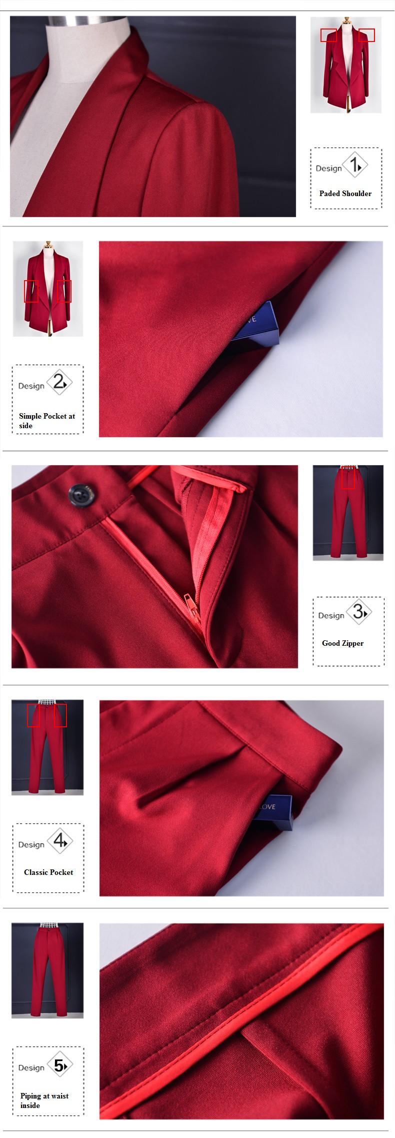 Pant Suits Women Casual Office Business Suits Formal Work Wear Sets Uniform Styles Elegant Pant Suits