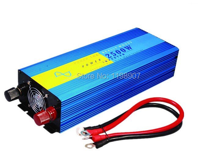 DHL Or Fedex Door to door free shipping Input voltage 2500w pure sine wave inverter / converter Solar Wind Power home system(China (Mainland))