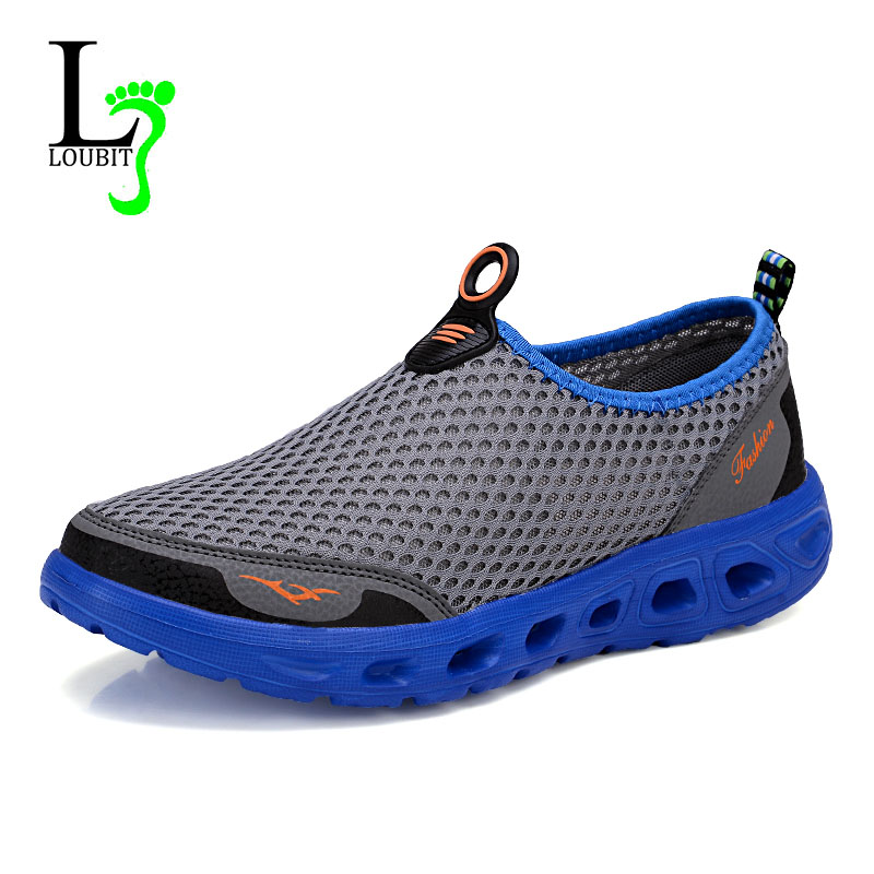 Men Shoes 2016 Fashion Brand Sport Outdoor Mesh Shoes High Quality Breathable Slip on Summer Casual Shoes(China (Mainland))