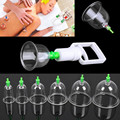 12 Cups Acupuncture Chinese Vacuum Cupping Suction Therapy Massage Device Body Relax