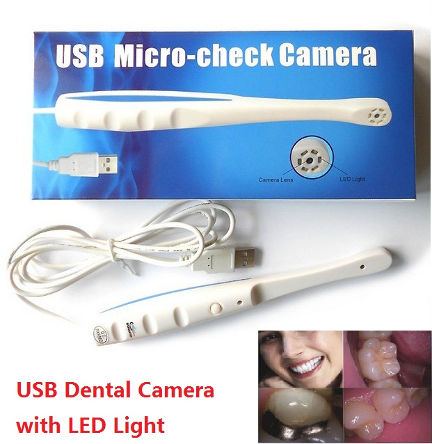 Home USB Intraoral Oral Dental Camera Dentist Tools Borescope With 6 LED Light ForTeeth Photo Shoot - Ear Nose Mouth endoscope(China (Mainland))