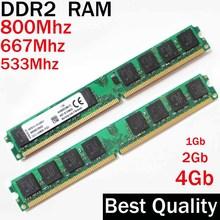 RAM DDR2 2Gb 1Gb 4Gb DDR2 800 667 533 Mhz  / For AMD – for Intel memoria ram ddr2 4Gb single / ddr 2 memory RAM PC2 – 6400 5300