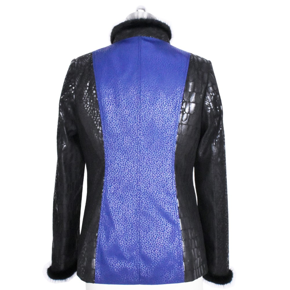 100% real natural Genuine Leather Mink fur Spliced autumn Clothing Wholesale factory direct supplier women's Faux Suede jacket