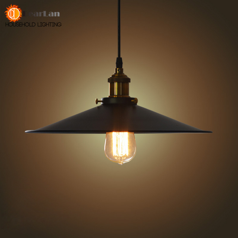 Fashional Pendant Lights,22CM/26CM/36CM E27 Vintage American Country Style,Black Shade Lights Club Bedroom Lights(MD-52)  -  Dearlan HOUSEHOLD LIGHTING STORE store
