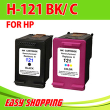 2PK for HP Printer ,Remam  Ink Cartridge for HP121 CC640HE with full ink with chip for HP DesjetF2560, F2568, F4280, 4288