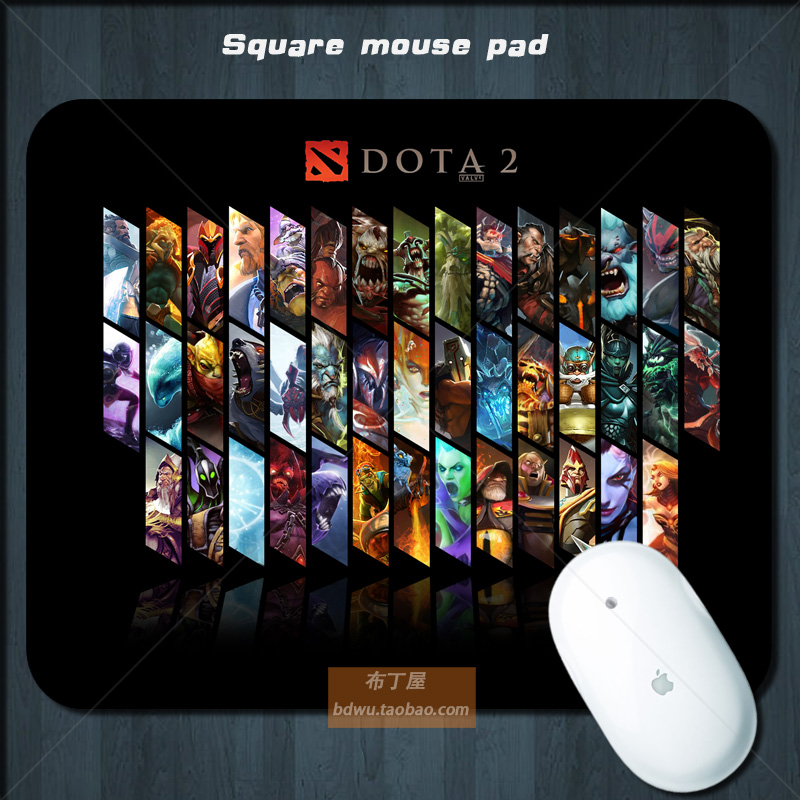Freeshipping hot Dota2 mouse pad wrist support cartoon soft natural rubber 5mm(China (Mainland))