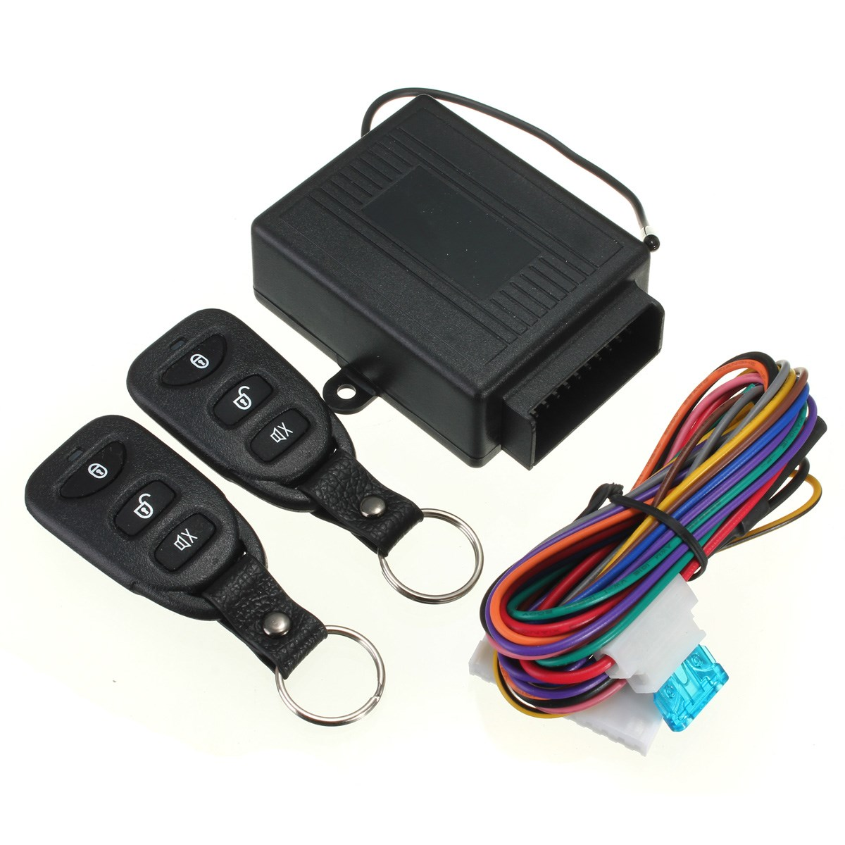 Hot Sale Keyless Entry System Universal Car Kit Remote Control Central Lock+ 2 Remote Controllers + User Manual +Wire(China (Mainland))