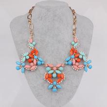 2016 New Fashion Brand Designer Chain Choker Vintage Rhinestone Necklace Bib Statement Necklaces & Pendants Women Jewelry(China (Mainland))