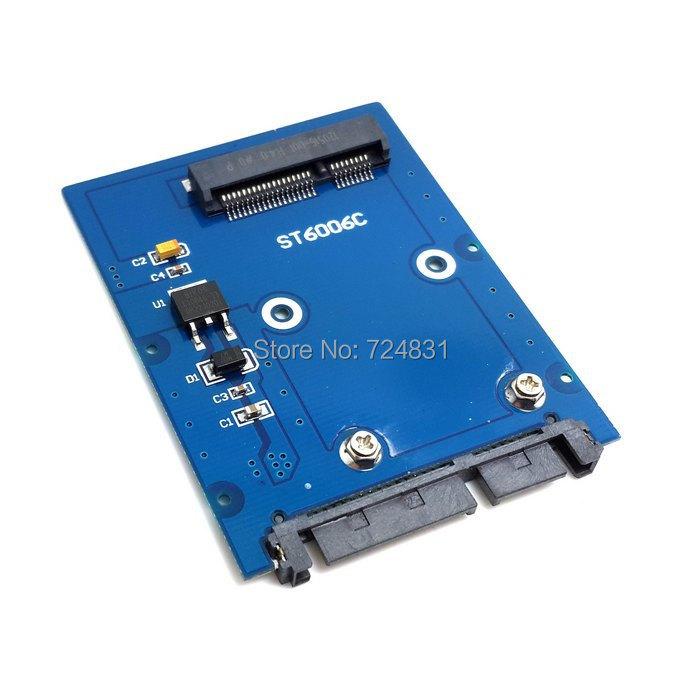 "CY Slim Type Mini PCI-E mSATA SSD to 2.5"" SATA 3.0 22pin HDD Adapter Hard Disk PCBA(China (Mainland))"