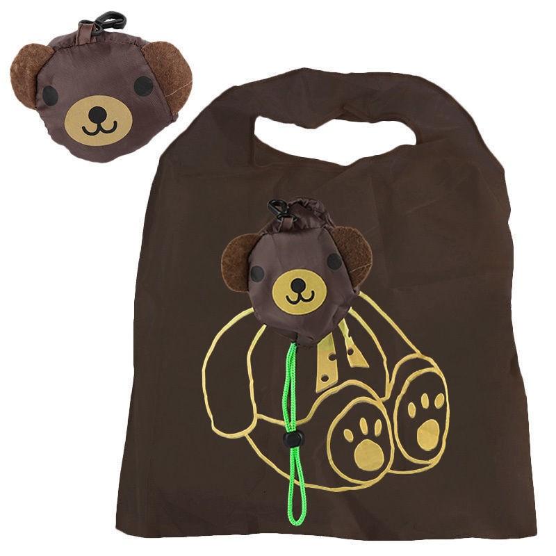 1 шт. эко путешествия складной сумки панда кошка свинья утка бакалея хранения многоразовые животных сумки