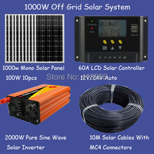 Factory Price 1KW off grid solar system grid tie solar energy system price solar power system