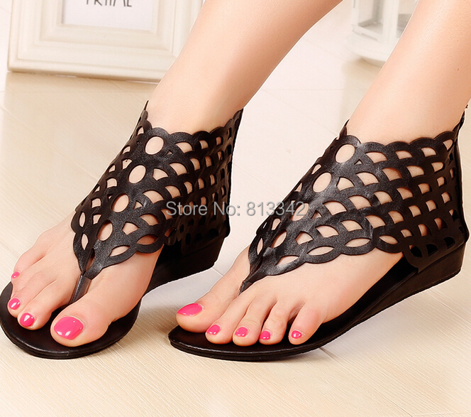 New 2016 Summer Women's Sandals Beach Rome Style Fashion Wedges For Female Party Shoes Cut Outs Sweet Euro size35-40(China (Mainland))