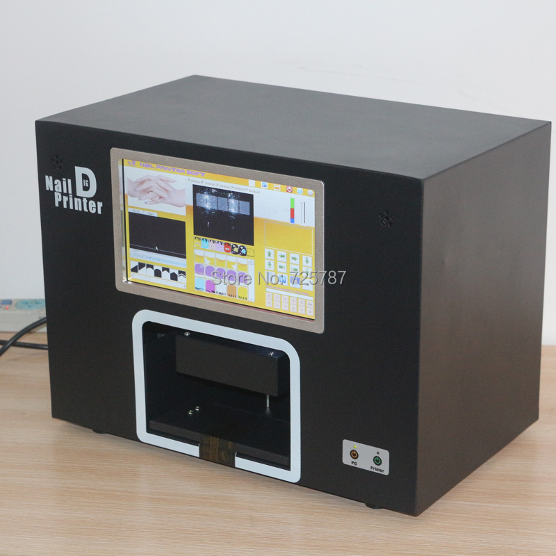 2014 most popular new updated Free shipping digital nail art printer machine any photos can print on nails(China (Mainland))