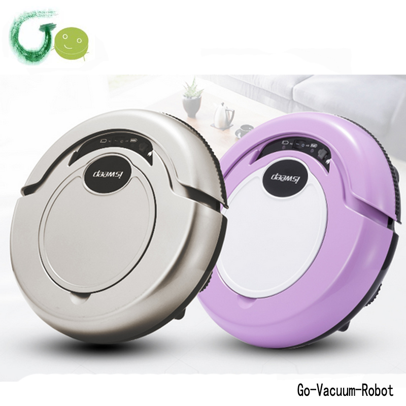 New small low noise big dust box vacuum sweeper Quiet Mop Robot Vacuum Cleaner one start button clean hoover home application(China (Mainland))