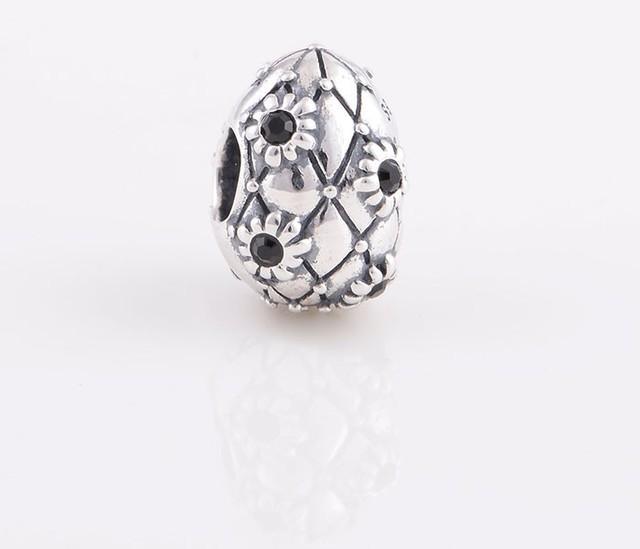 Аутентичные стерлингового серебра 925 бусины регби спорт с кристалл DIY изготовления ювелирных изделий подходит для Chamilia европейский шарм браслет