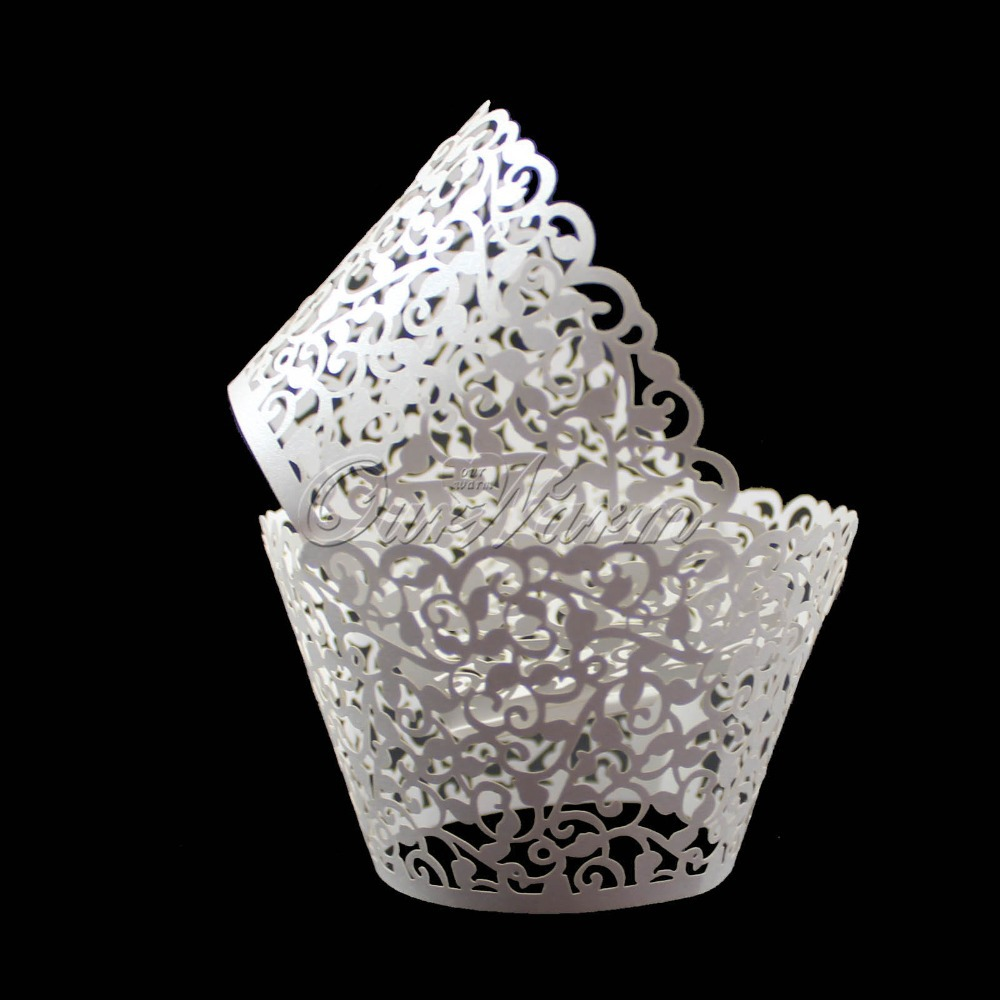 Cake Decoration With Paper : 120Pcs Cloud Hollow Out Cake Paper Wrap Cupcake Wrapper ...