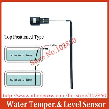Water Temperature and Level Sensor for SR series solar water heater controllers,G1/2' water level sensor top positioned