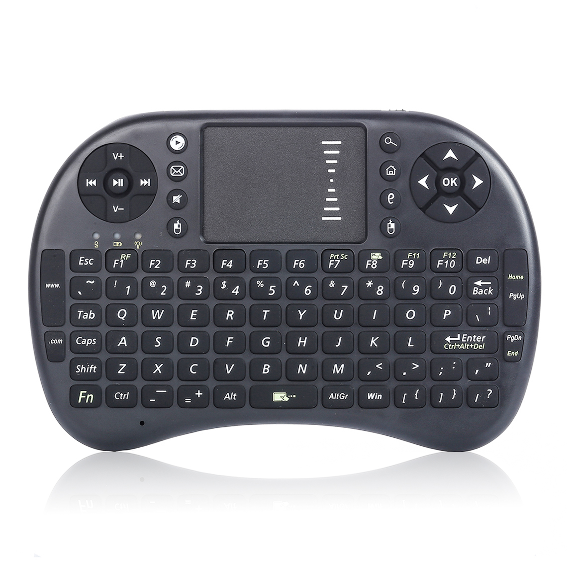 Original i8 Mini Wireless Keyboard 2.4G English Air Mouse QWERTY Keyboard Gaming USB Keyboard Touchpad For Android TV Box Laptop(China (Mainland))