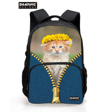 Buy Korean Style 3D Women Backpack Cute Cat Head School Backpacks Girls Shoulder Daypack College Students Campus Back Pack for $22.19 in AliExpress store