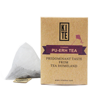 KITE Royal Puer tea, Whole Leaves Puer Tea In Pyramid Tea Bag, 8 pieces