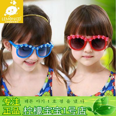 Fashion infant baby children girls sunglasses cute flowers goggles eyeglasses outdoor sun shading anti-UV Oculos de sol EY190(China (Mainland))